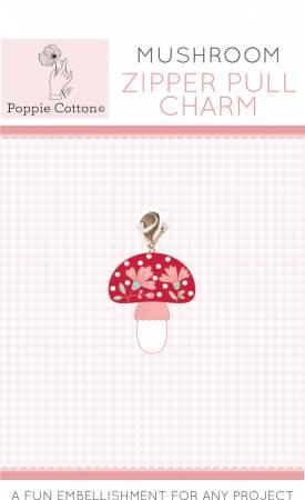 Zipper Pull Charm Mushroom Charm