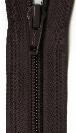 Ziplon 1-Way Separating Zipper 12in Sable Brown