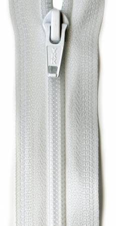 Ziplon 1-Way Separating Zipper 24in White