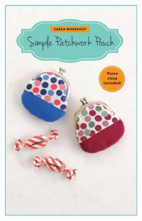 Simple Patchwork Pouch Kit with Pattern