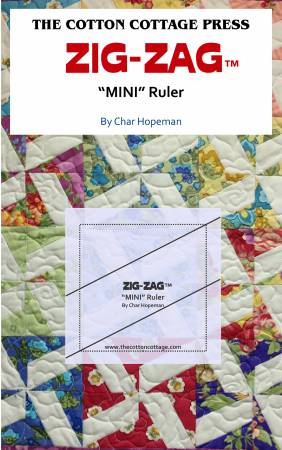 Zig-Zag Ruler 2-3/4 from The Cotton Cottage Press by Char Hopeman