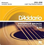 D'Addario EJ19 Phosphor Bronze Acoustic Guitar Strings Bluegrass, 12-56