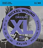 D'Addario EXL115 Nickel Wound Electric Guitar Strings, Medium/Blues-Jazz Rock, 1...