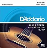 D'Addario EJ40 Silk And Steel Folk Guitar Strings, 11-47