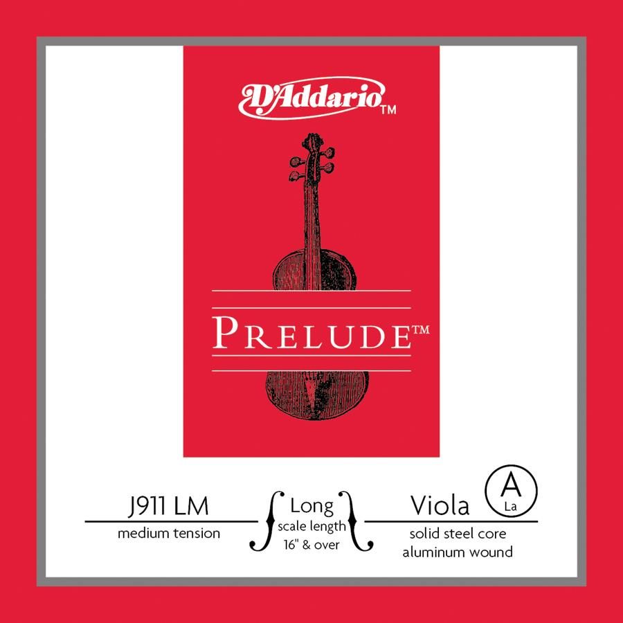 D'Addario Prelude Viola Single A String Long Scale, Medium Tension