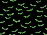 Green Bats on Black