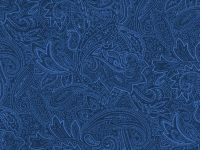 108-Inch x 108-Inch (3 Yards) Wide Backings, Paisley Navy Tonal