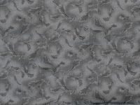 108 wide Backing - gray floral scroll