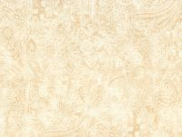 108 Inch Choice Backings - white paisley on cream background