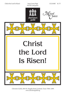 CHRIST THE LORD IS RISEN SAT(B) PAGE EAST