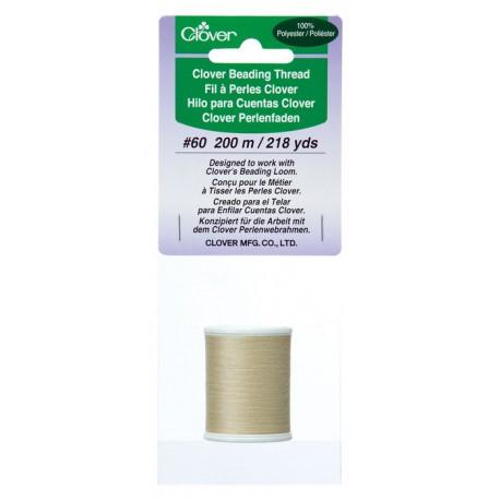 Clover Beading Thread Beige 9913