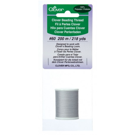 Beading Thread Light Gray Polyester 9916 by Clover