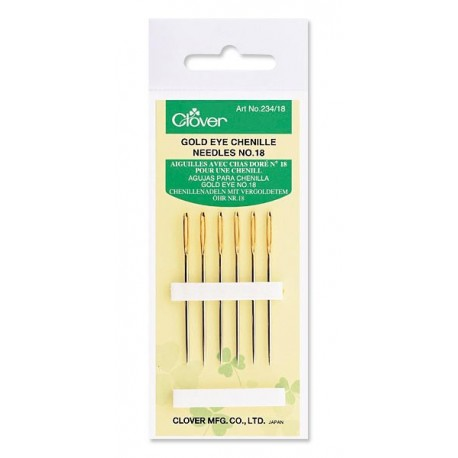 Gold Eye Chenille Needles #18