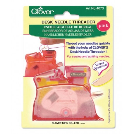 Desk Needle Threader in Pink