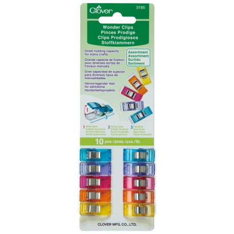 Wonder Clips, Assorted Colors, 10 pieces