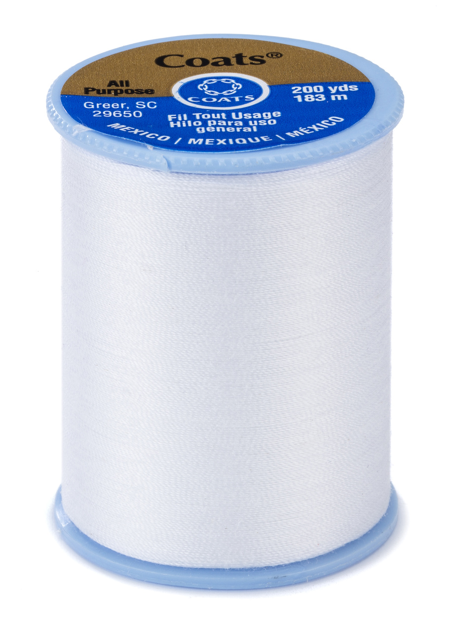 Coats and Clark All Purpose Thread - 400 yds White