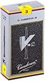 Vandoren Bb Clarinet V12 Reeds, 3 Strength, 10-Pack
