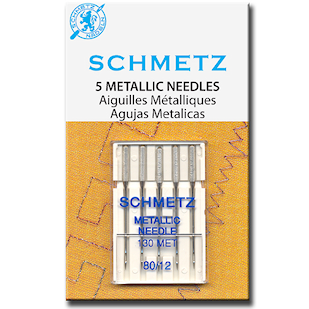 Schmetz Metallic Needles 80/12 - 5 pack