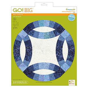 AccuQuilt GO! Big Double Wedding Ring (12 1/2 finished) 55258