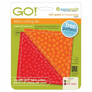 GO! Half Square Triangle 4 1/2 Finished Square
