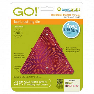 Go! Equilateral Triangle = 4-1/2 Finished