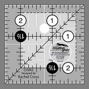 Creative Grids 2.5 x 2.5 Square Ruler