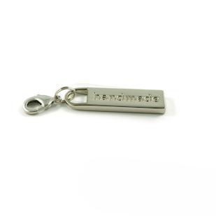 Zipper Pull Handcrafted - Nickel