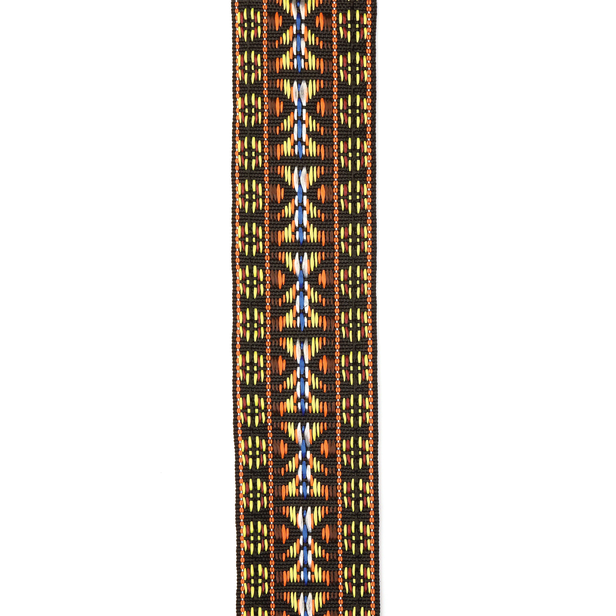 D'Addario Woven Banjo Strap, Hootenanny - Yellow and Brown