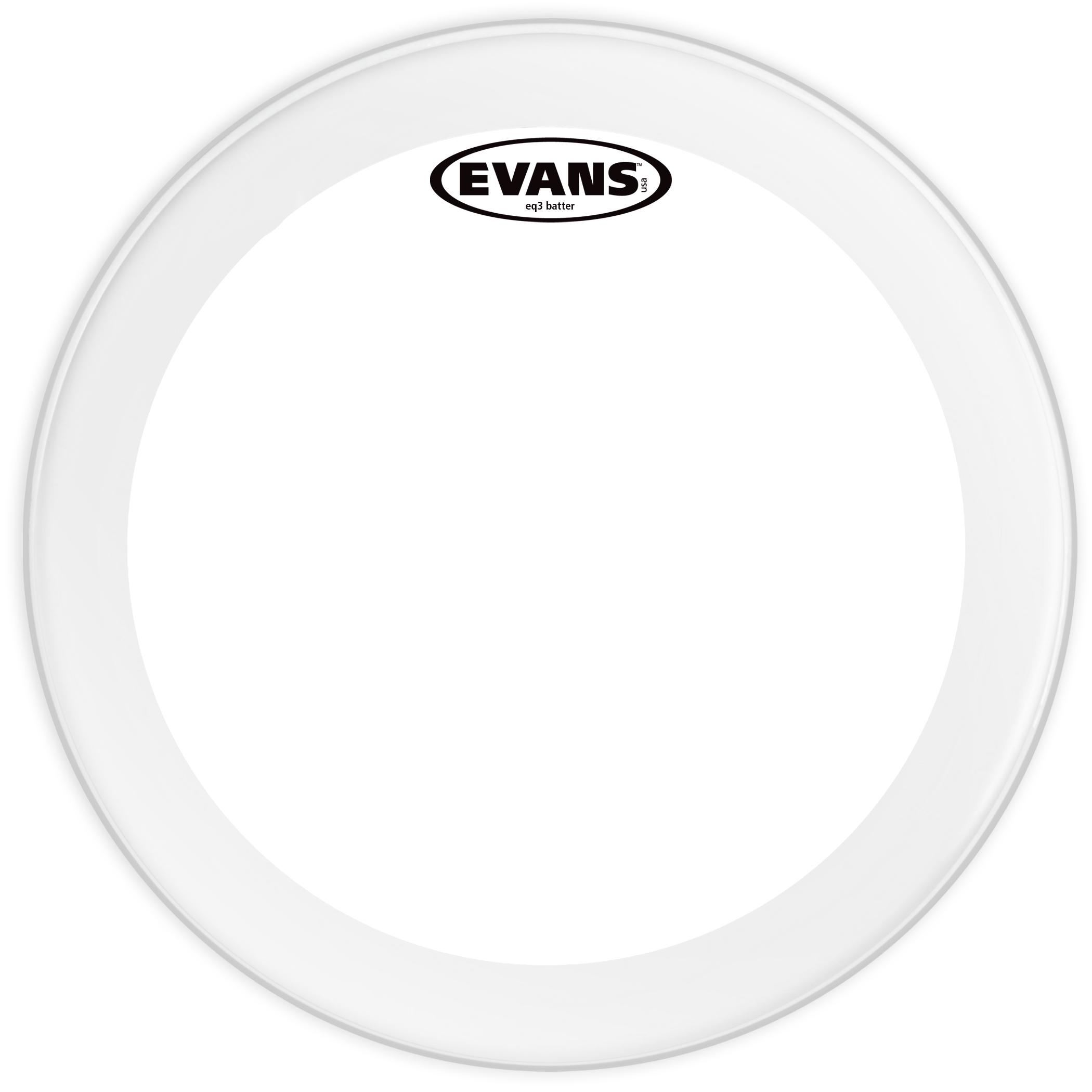 Evans EQ3 Clear Bass Drum Head 22