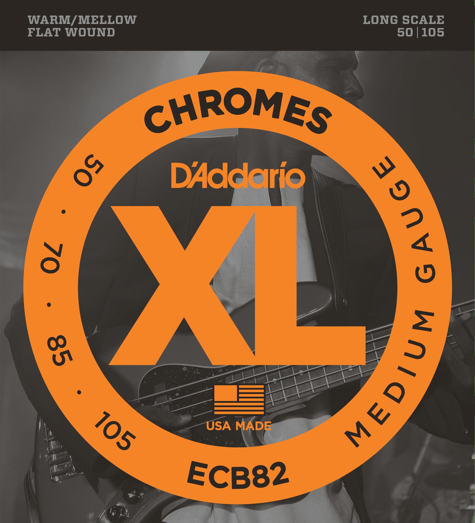 D'Addario ECB82 Chrome FW Medium 50-105