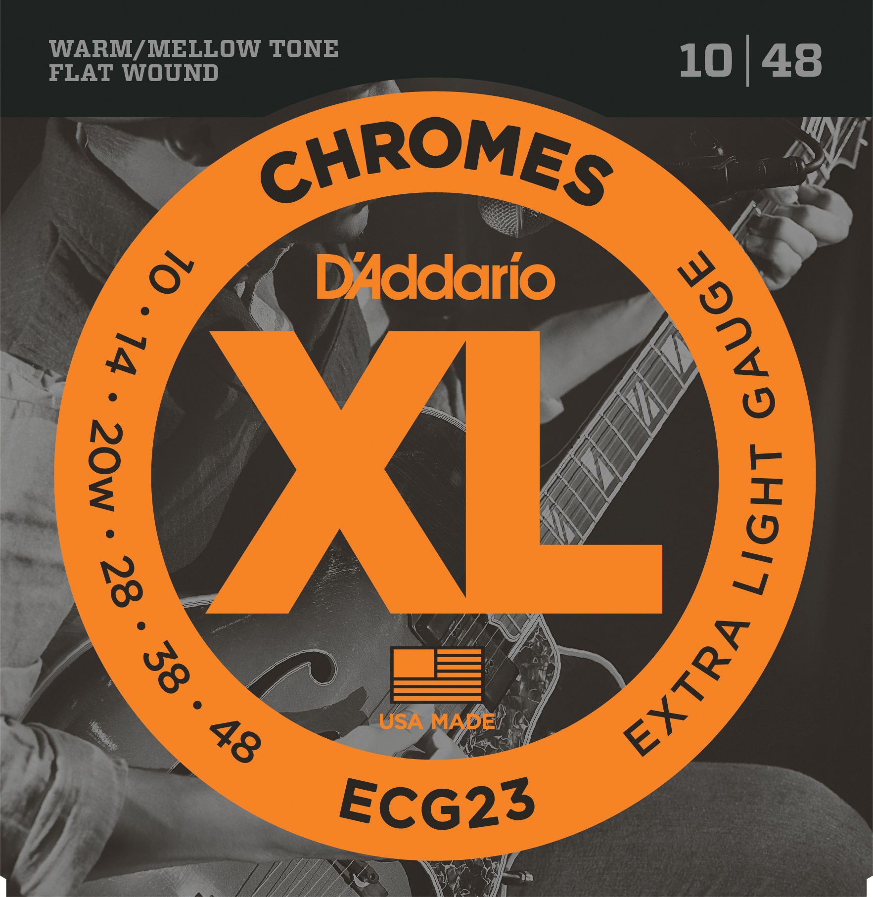 D'Addario Chromes ECG23 X Lite Electric Stringset