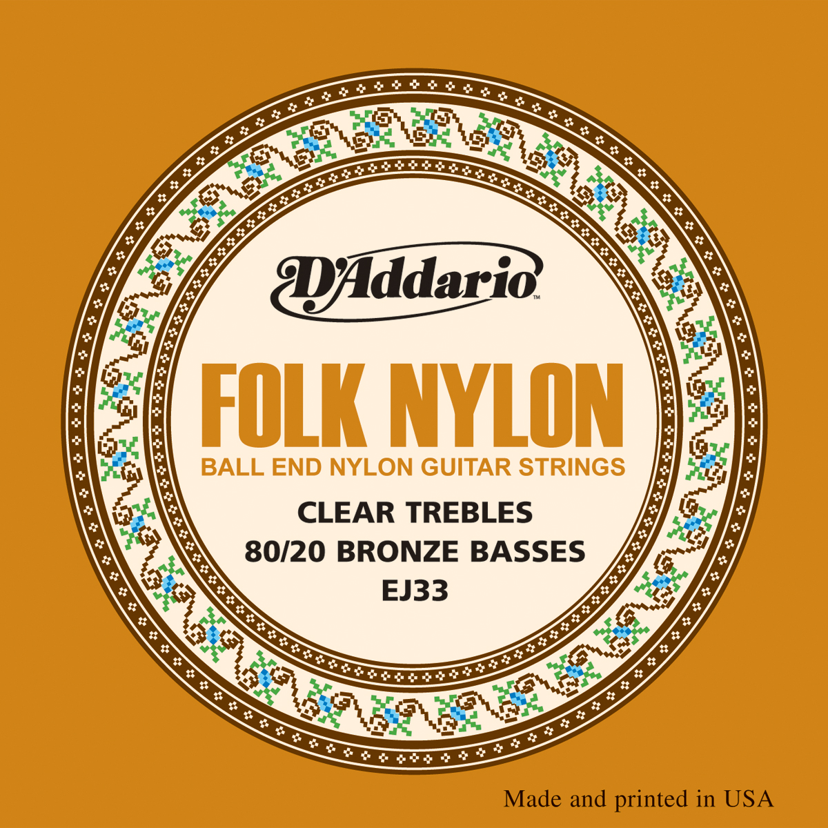 D'Addario EJ33 Ball End Folk Nylon