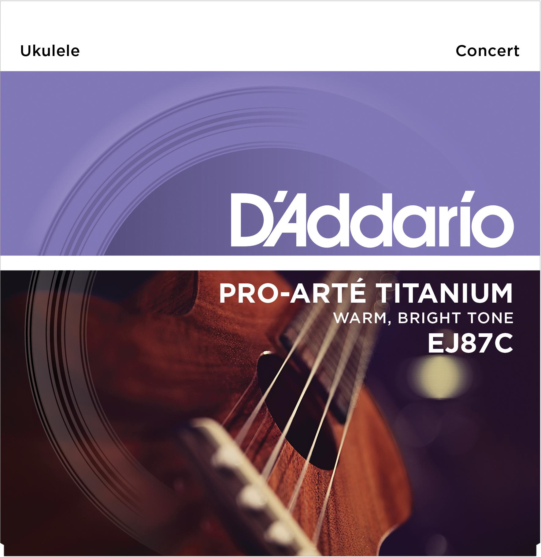 D'Addario EJ87C Titanium Concert Ukulele Stringset