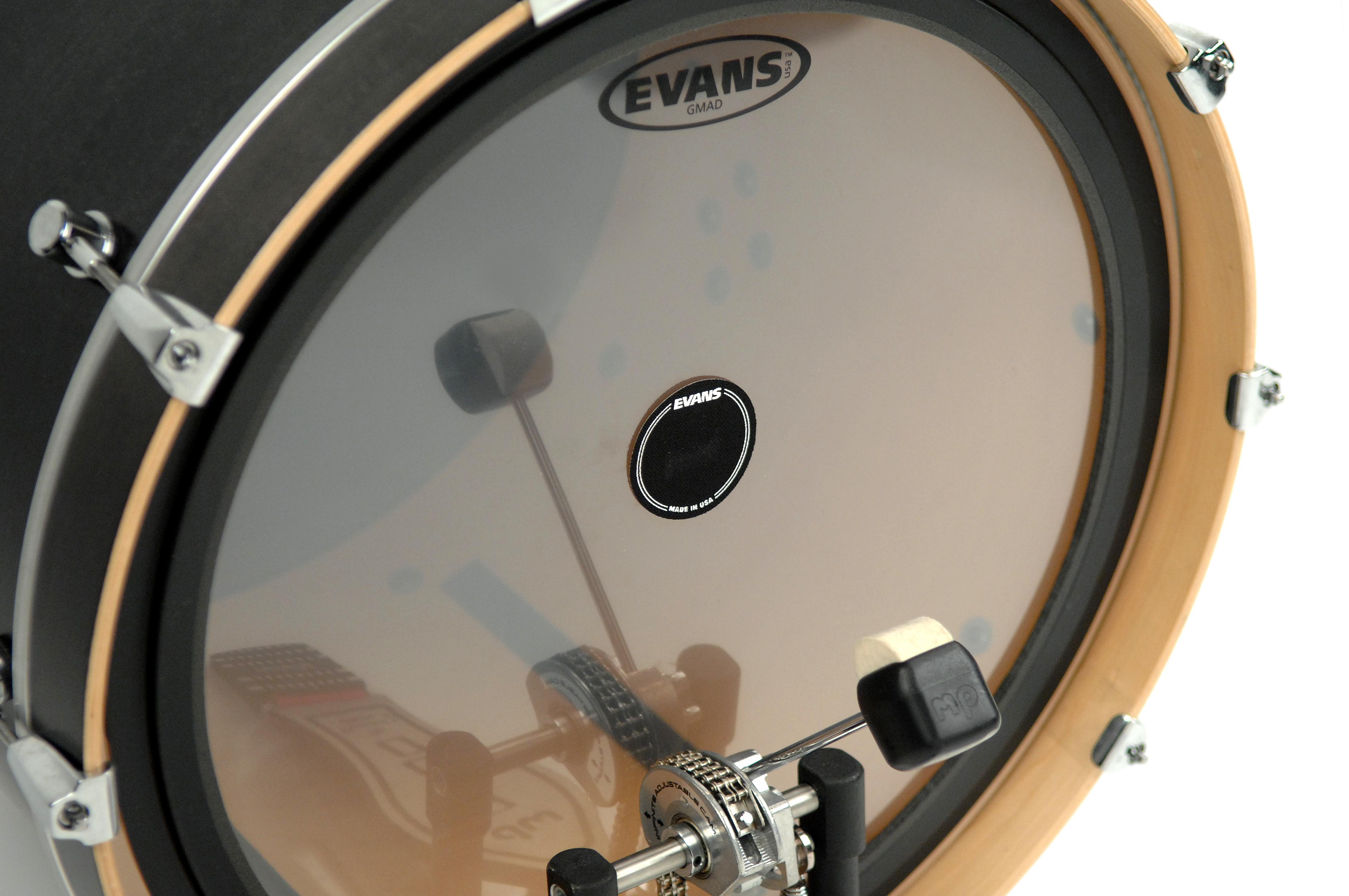 Evans EQ Single Pedal Patch Black Nylon