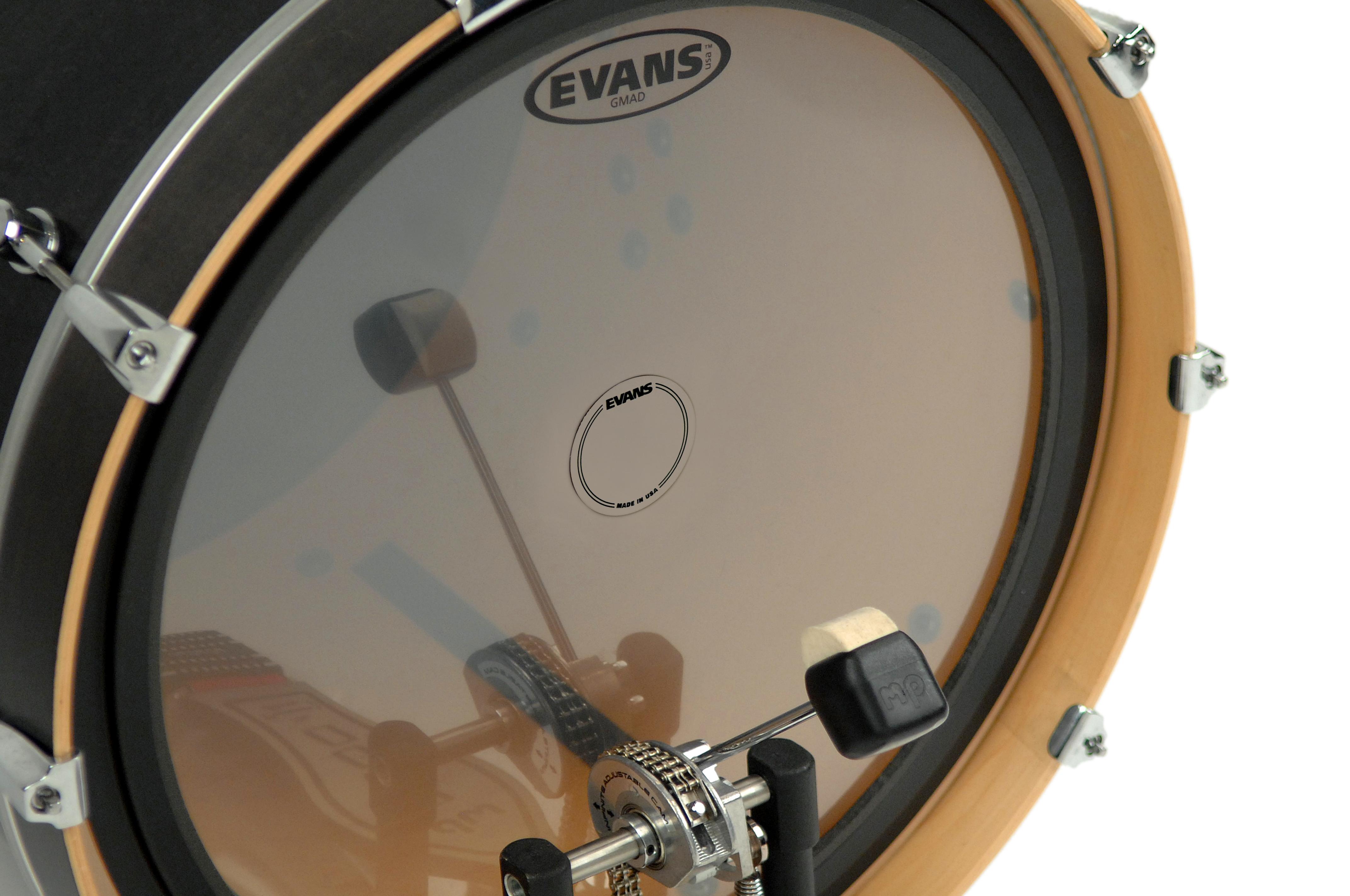 Evans EQ Single Pedal Patch Clear Plastic