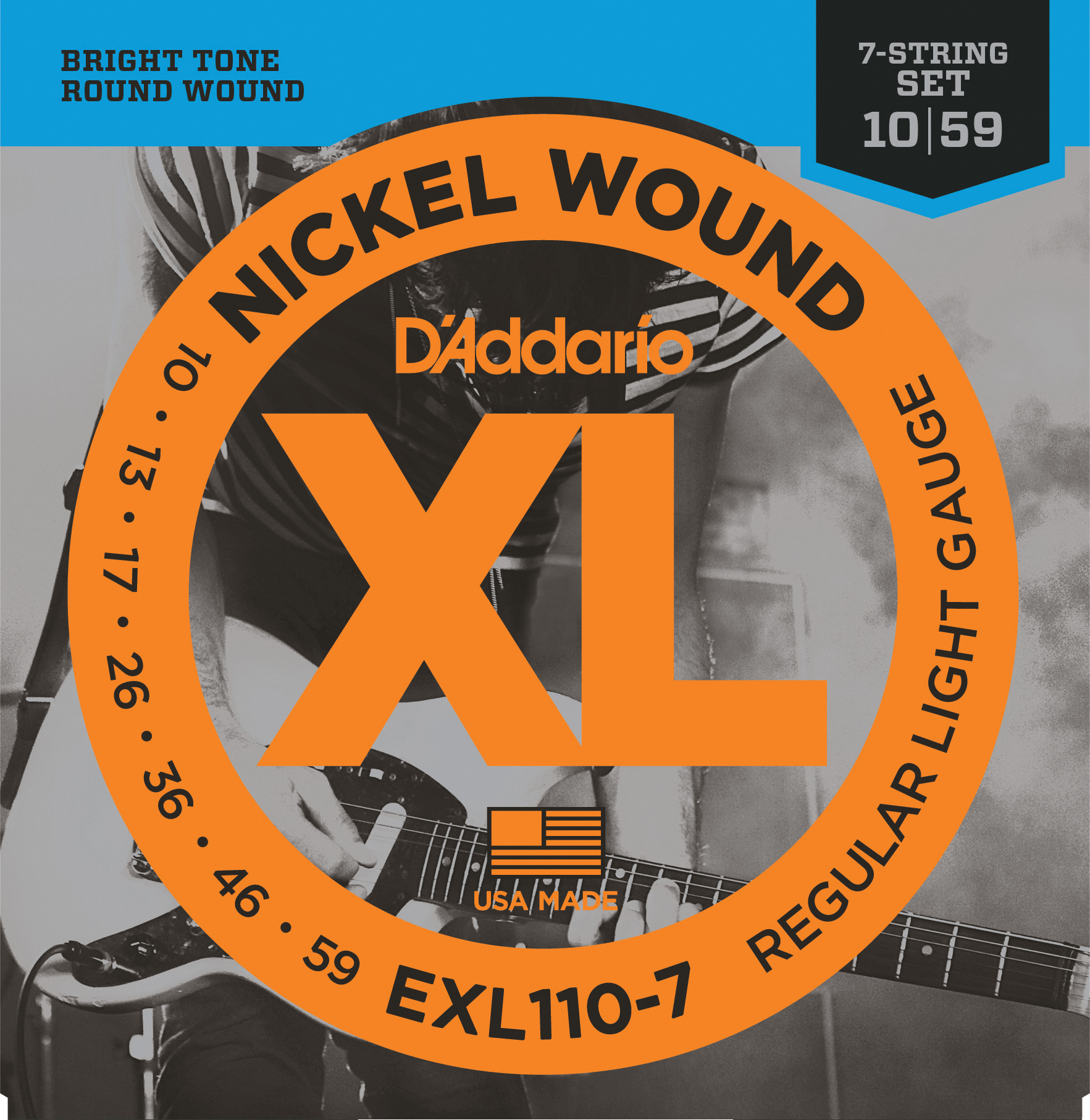 D'Addario Regular Light 7-string 10-59