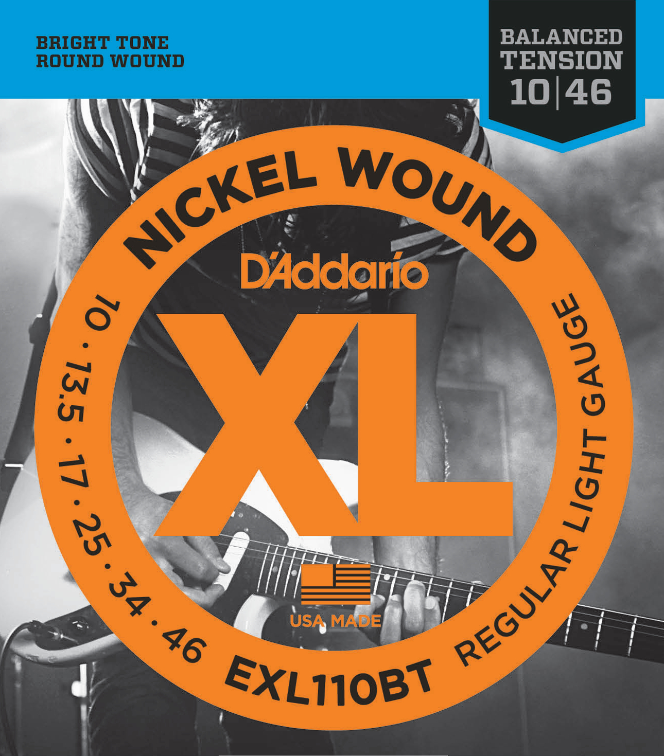 D'Addario EXL110BT Nickel Wound Electric Guitar Strings Balanced Tension Regular...