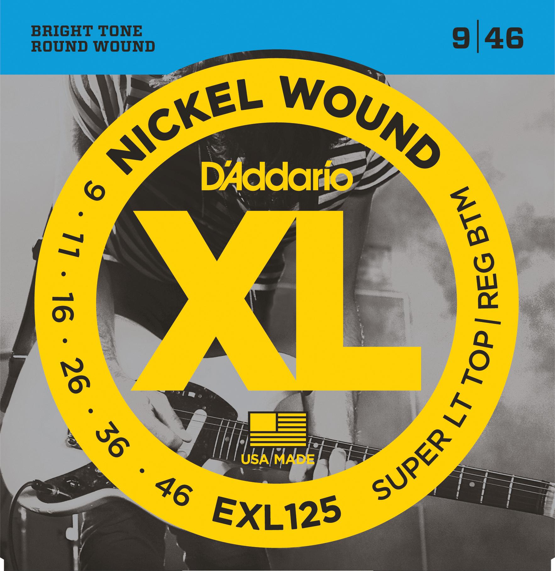 D'Addario EXL125 Nickel Wound Electric Guitar Strings, Super Light Top/ Regular ...