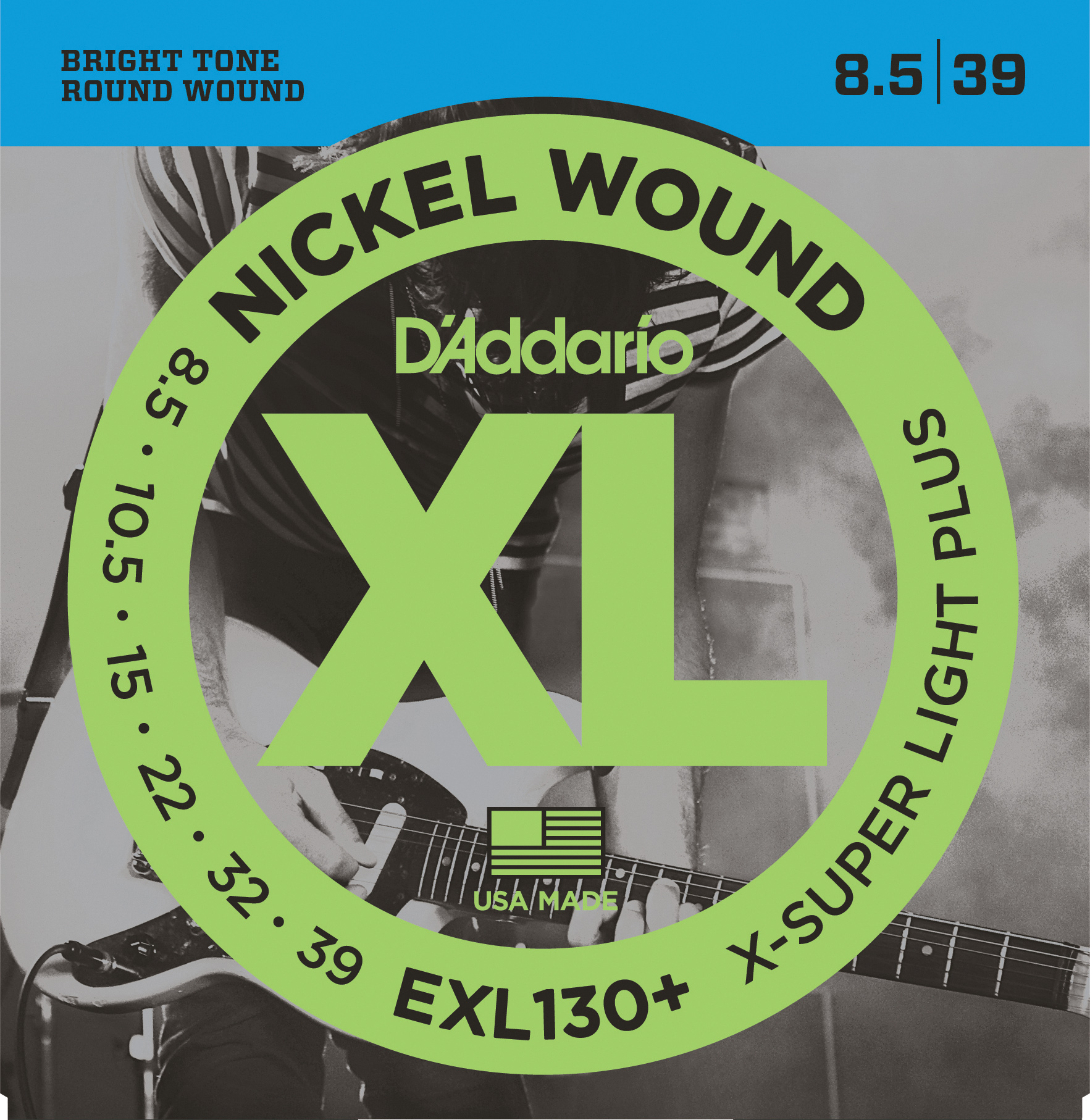 D'Addario EXL130 Nickel Wound Electric Guitar Strings Extra-Super Light 8-38