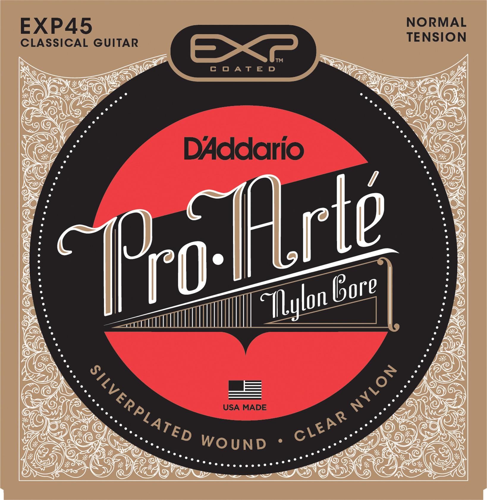 D'Addario Pro Arte' Classical EXP45 Composite Core Coated