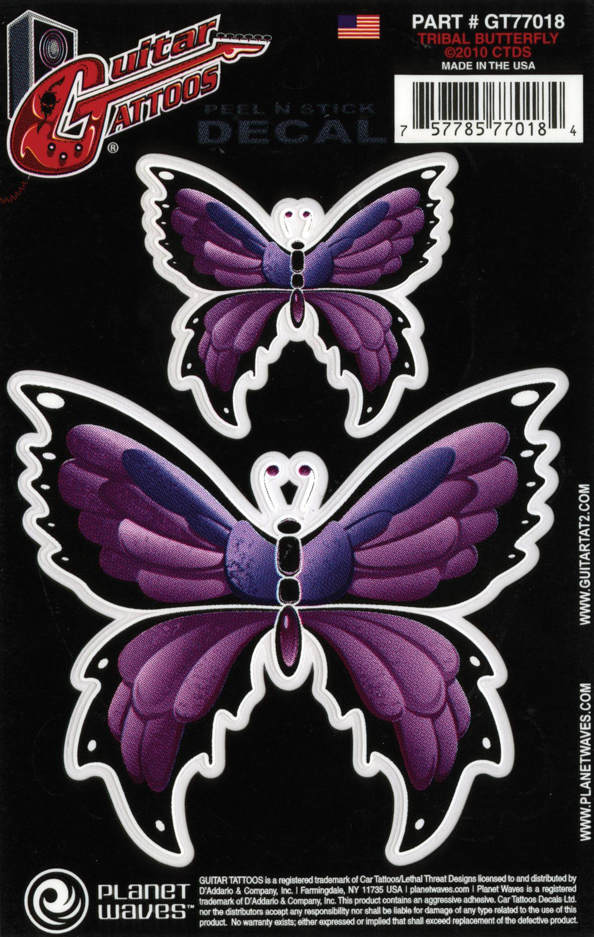 D'Addario Guitar Tattoo Tribal Butterfly