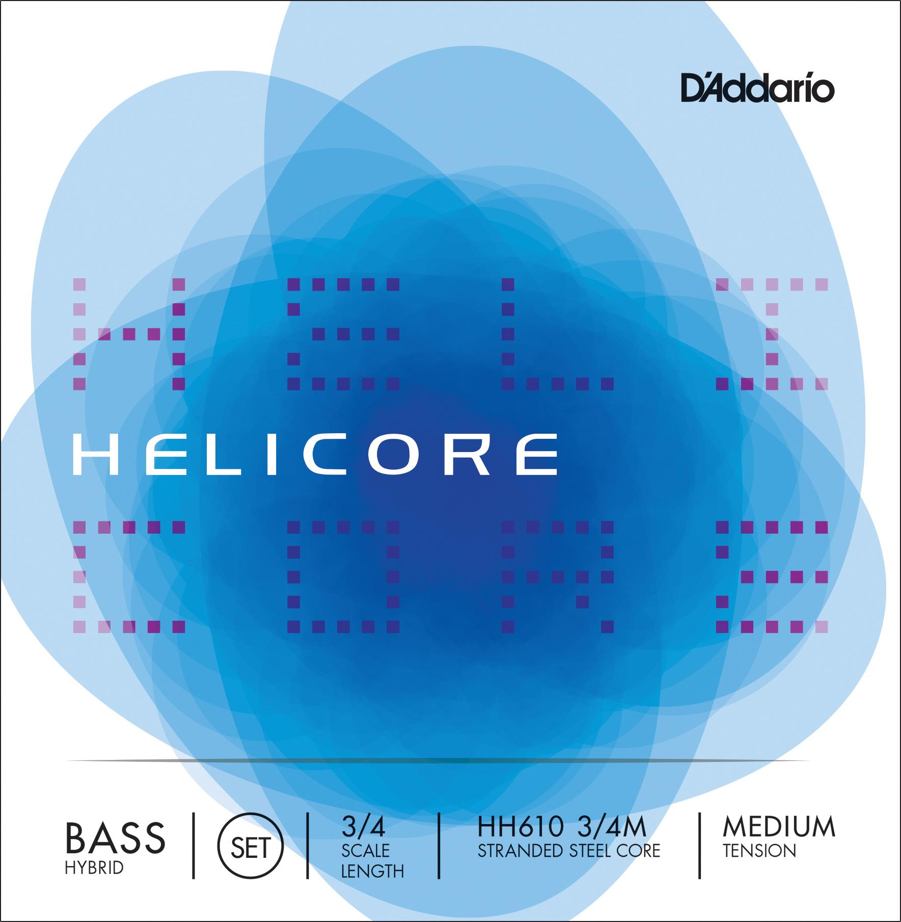 HELIC HYBRID BASS SET 3/4 MED
