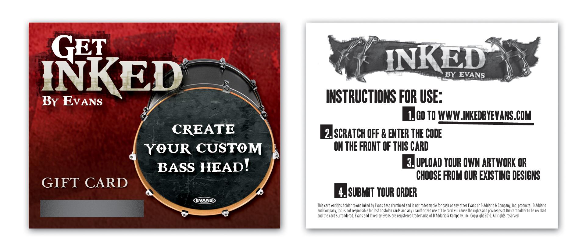 Evans Inked By Evans Custom Bass Drum Head Gift Card
