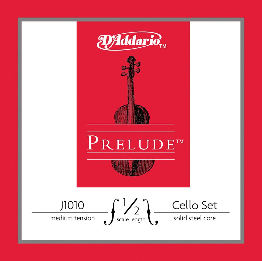 D'Addario Prelude Cello String Set, 1/2 Scale, Medium Tension