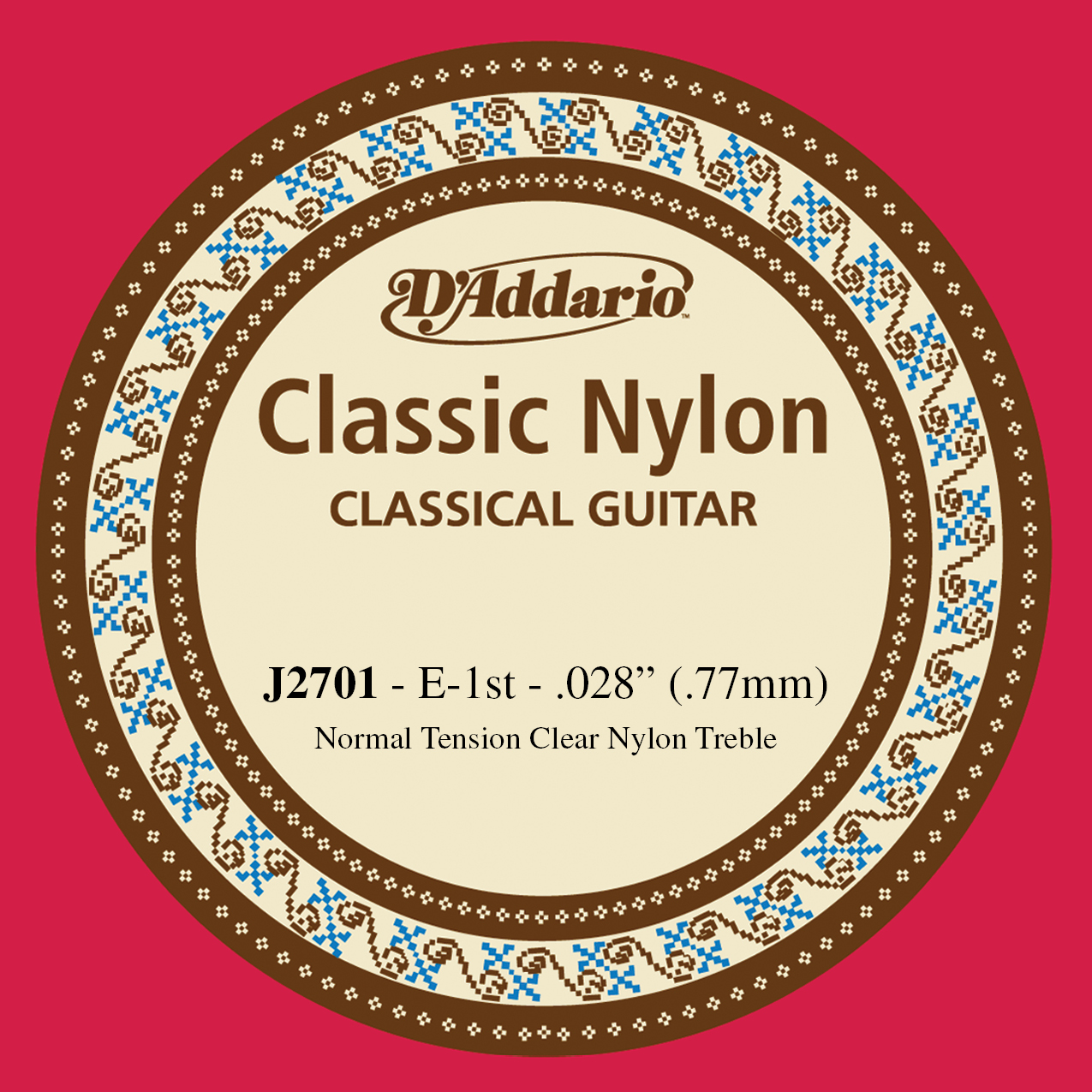 D'Addario J2701 Student Nylon Classical Guitar Single String, Normal Tension, Fi...