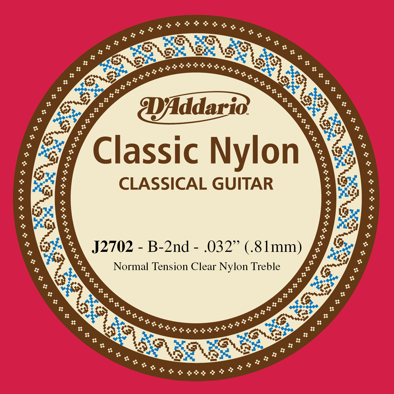 D'Addario J2702  Student Nylon Classical Guitar Single String, Normal Tension, S...