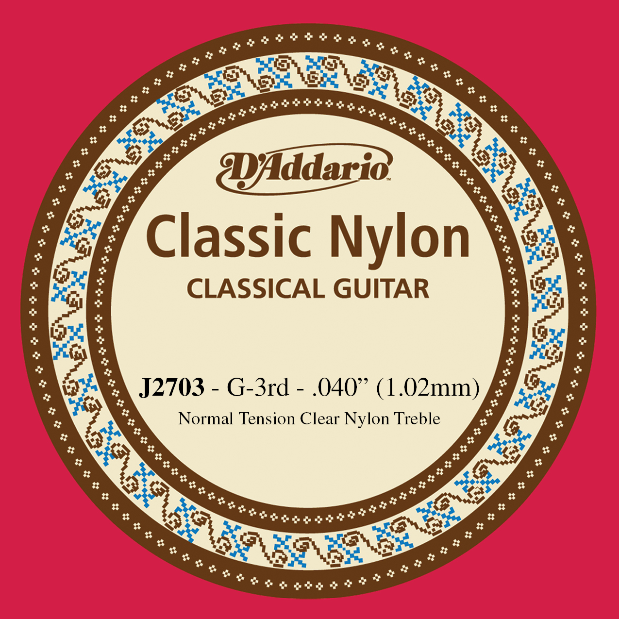 D'Addario J2703  Student Nylon Classical Guitar Single String, Normal Tension, T...
