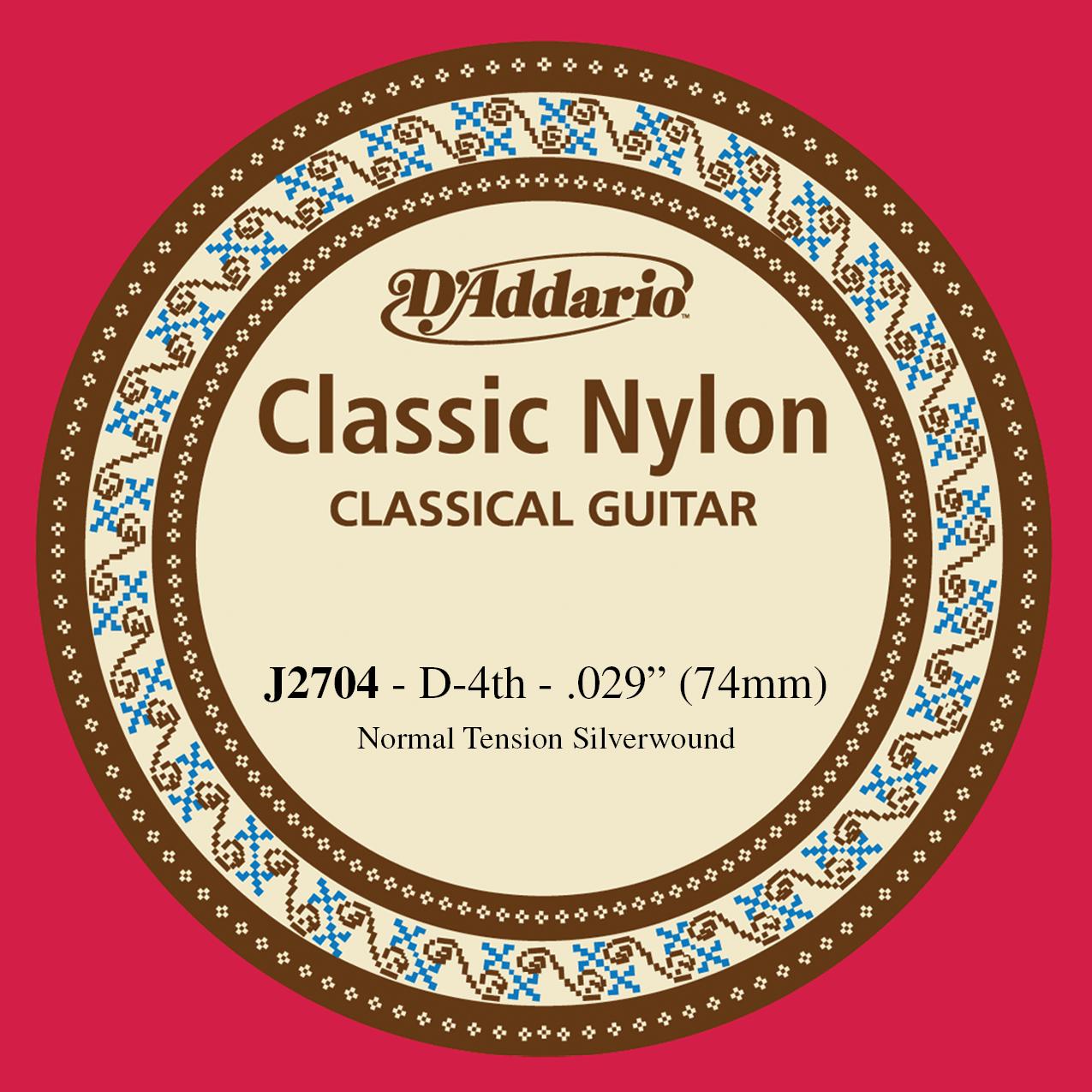 D'Addario J2704  Student Nylon Classical Guitar Single String, Normal Tension, F...