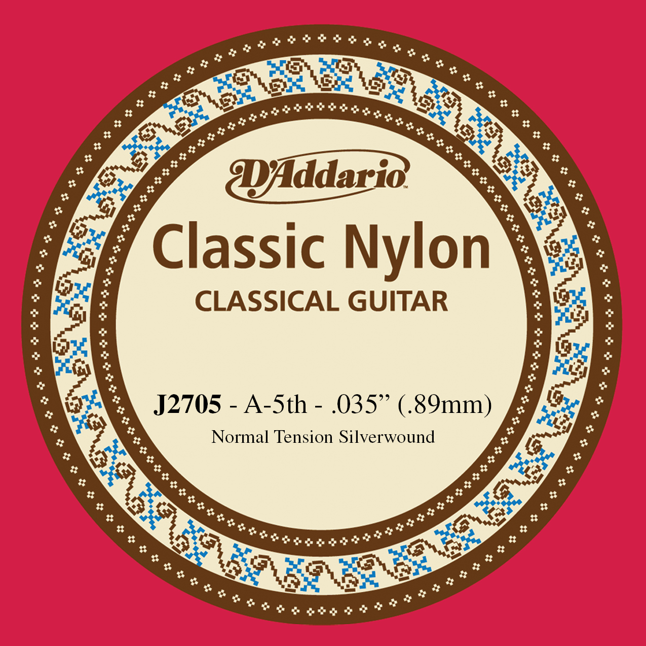D'Addario J2705  Student Nylon Classical Guitar Single String, Normal Tension, F...