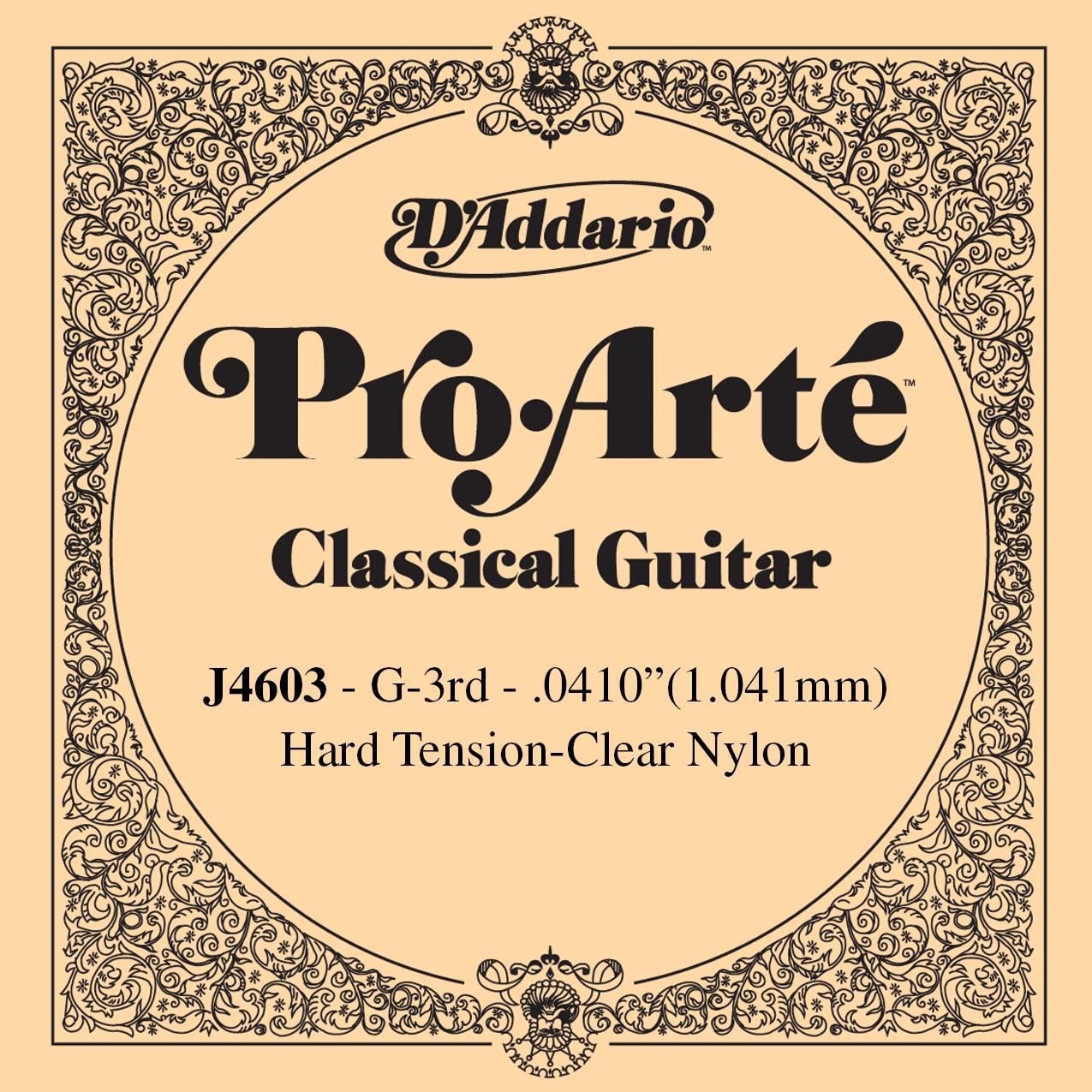D'Addario J4603 Pro-Arte Nylon Classical Guitar Single String, Hard Tension, Thi...